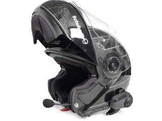 Dual Pack Bluetooth Helmet Intercom Headset w Free Transmitter