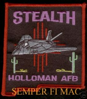 Holloman AFB F 117 Stealth Home Base Patch US Air Force