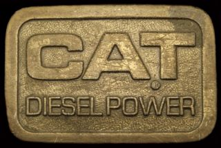1980s Cat Diesel Power Caterpillar Heavy Equipment Buckle