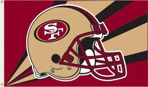 San Francisco 49ers SF 3x5 Flag Banner Helmet Football