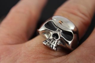 Ring Stainless Steel Skull Heavy Metal Motocycle Band Punk Gear