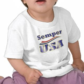 Semper USA Tee America Stripes T Shirts for Kids