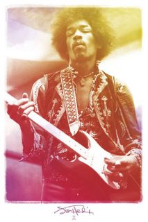 Jimi Hendrix Legendary Rock Music Poster