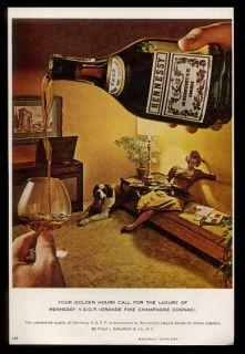 Bernard Dog Woman Photo Hennessy VSOP Cognac Vintage Print Ad