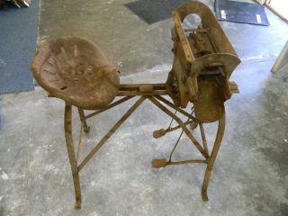 Antique Bucher & Gibbs Plow Co. Potato Seed Cutter. Still Works. (late