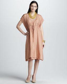 Donna Karan Sequined Cashmere Silk Dress