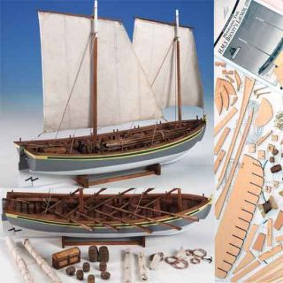 Model Shipways HMS Bounty Launch Wood Kit Boat New