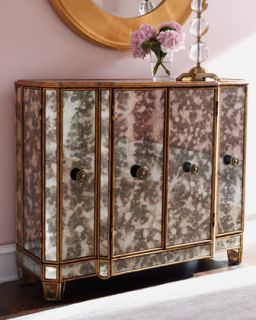 Gold Toned Mirrored Console