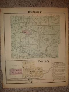 1875 Rumley Township Fairview Harrison County Ohio Map