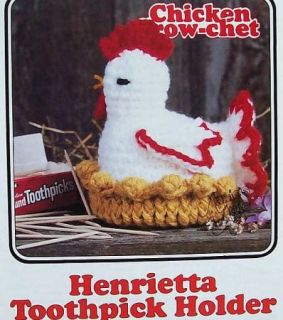 Chicken Crow Chet Henrietta Toothpick Holder AA