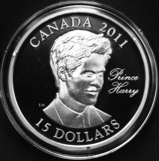 2011 Canada $15 Sterling Silver Coin Prince Harry