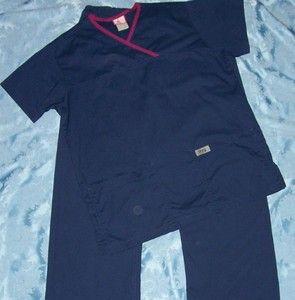 SCRUBS size Medium Scrubs SET (Top & Pants) like Heigl Greys Anatomy