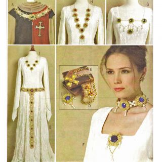 Historical Costume Jewelry Pattern Butterick B5508 New