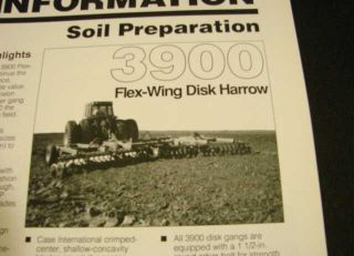 Case IH Product Brochure 3900 Flex Wing Disk Harrows