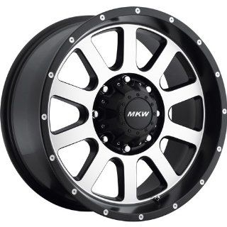 MKW Offroad M86 20 Black Machined Wheel / Rim 8x170 with a 10mm Offset