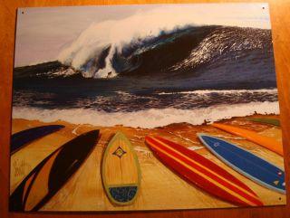 Surfboard Beach Tropical Tiki Bar Surfer Home Decor Sign New