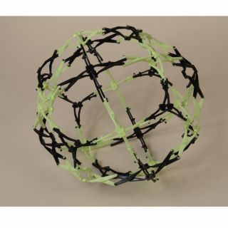 Hoberman Expanding Mini Sphere Toy Firefly Glow in The