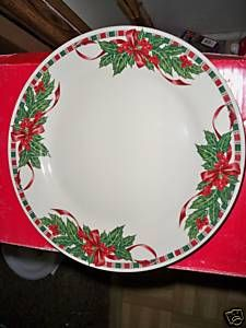Home Essentials Tartan Ribbon Dinner Plates (4) !!!!!