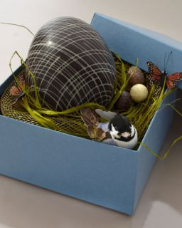 MarieBelle Large Chocolate Easter Egg   Neiman Marcus