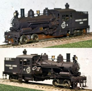 Pickering 2 Truck Heisler Geared Steam locomotive PFM Brass HO [6711