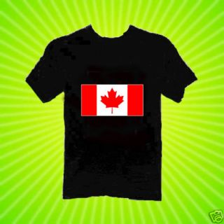 Canadian Flag T Shirt New 8 Sizes 2 Colors