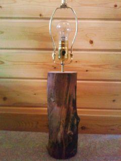 PRICE* ASPEN LAMP RUSTIC LOG FURNITURE LODGE DECOR HOME CABIN WOOD