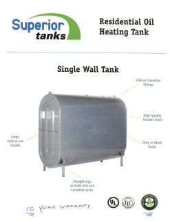 275 Gallon Fuel Oil Tank Brand New