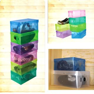 Storage Shoe Box Case Home Organization 6 Colors Transparent