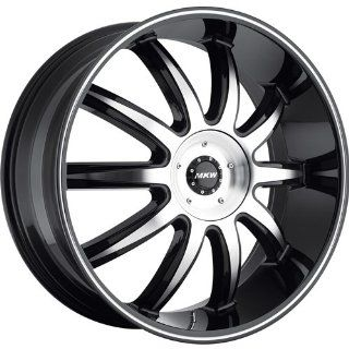 MKW M112 18 Black Wheel / Rim 5x110 & 5x115 with a 40mm Offset and a