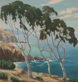 Impressionist Oil Painting by Harry Hamaker 1932 Laguna Beach
