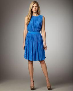Tibi Pleated Jersey Dress