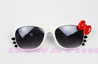 cute costume girls womens hello kitty sunglasses bow tie 80 s retro