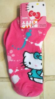 Girls Hello Kitty Socks Pattern Size Choice New
