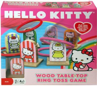 Hello Kitty Table Top Wood Ring Toss Game NIB