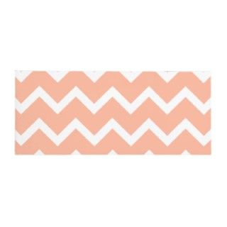 zig zag pattern design in coral pink and white chevron stripes.
