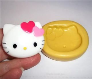 Hello Kitty Cat Flexible Push Mold for Resin or Clay Food Safe