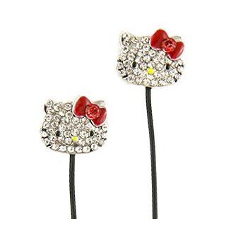 Hello Kitty Bling Jeweled Earbud Headphones Earbuds Sanrio Christmas