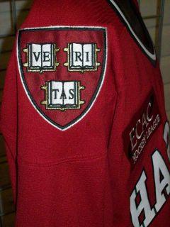 Harvard University Reebok Ecac Hockey Jersey Sz XXL 2XL