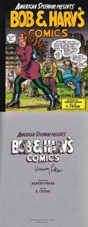 Harvey Pekar SIGNED AUTOGRAPHED Bob Harvs Comics Robert Crumb