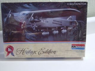 MONOGRAM HERITAGE EDITION FORD TRIMOTOR  1/77 SCALE MODEL AIRPLANE KIT