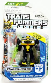 Transformers Prime Cyberveres Legion Class Quickblade Bumblebee Action
