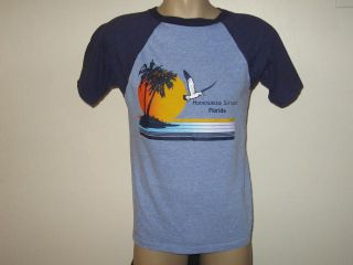 Vintage 80s Homosassa Springs Florida T Shirt Small Surf Beach Neon