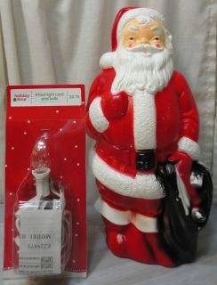 Vtg 13 Empire Santa Claus Christmas Blow Mold That Lights Up Decor