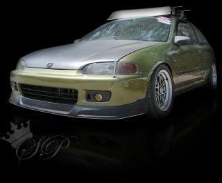 92 95 Honda Civic Type Concept TC VIP Style Front Bumper Lip Spoiler