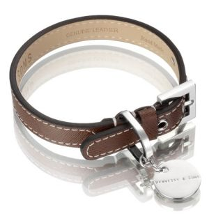 Hennessy Sons Saffiano Hand Made Leather Dog Collar