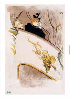 Henri de Toulouse Lautrec Box at Mascaron Dore Print