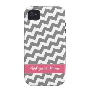 Funky Chevron Zig Zag Pattern with name Vibe iPhone 4 Cases
