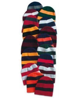 New Sportsman Striped Knit 8 Hat Team Sports Winter Ski Beanie Cap 20