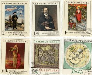 Ceskoslovensko Postage Stamps Painters Rousseau Mystr Brozik