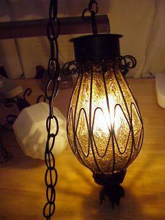 Thomas Lighting Moe Orig 50s Vtg Geometric Leaded Glass Lamp Shade